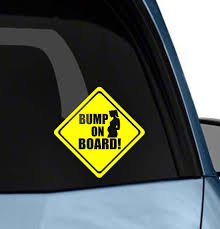 Amazon Com Bump On Board Cute Funny Car Window Decal Vinyl Art Bumper Sticker Die Cut Decal Arts Crafts Sewing
