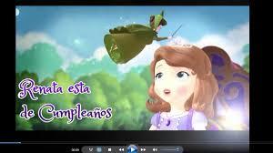 Princesa Sofia Tarjeta Invitacion Digital Video Animado Bs
