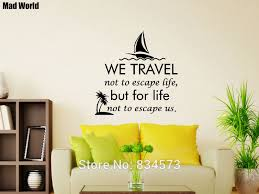 Mad World We Travel Not To Escape Life Wall Art Stickers Wall Decal Home Diy Decoration Removable Room Decor Wall Stickers Sticker Wall Decal Wall Decalswall Sticker Aliexpress
