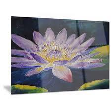 design art purple lotus flower fl