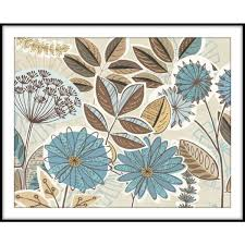 funky flowers framed wall art 1 76745