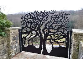 modern laser cut metal garden gates i