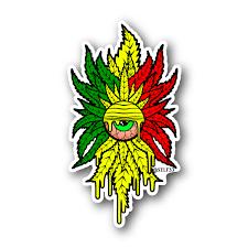 Rasta Clops Sticker Vinyl Stickers Marijuana Stickers Clear Stickers