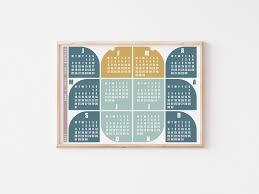 2021 Calendar For Kids Big Bug Minimalist Personalised Etsy In 2020 Kids Calendar Kids Room Poster Personalized Wall
