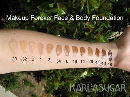 makeup forever face and body ivory 20