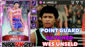 GLITCHED* PG Pink Diamond Wes Unseld Gameplay! NBA 2k20 Flash Pack 7 HOF  Range Ext! Drops 45 points - YouTube