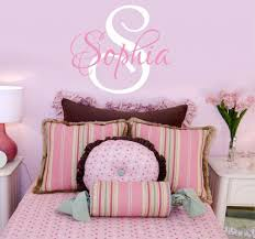 Amazon Com Girls Nursery Personalized Custom Name Wall Decals Baby Wall Stickers For Girls 23 W By 20 H Girl Name Wall Decal Wall Decor Girls Nursery Wall Decals Girls Bedroom Plus Free