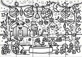 Block Poster Kerst Met Kerstballen Kleurplaat Vo