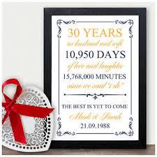 anniversary gift 30 wedding anniversary