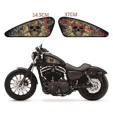 Smoke Skeleton Motorcycle Fuel Tank Decals Emblem Badges Stickers For Harley Ebay