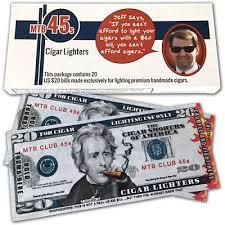 cigar lighter novelty money 20 bills