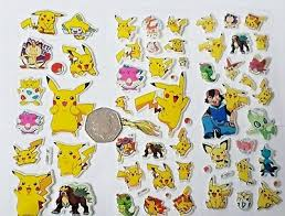 Pokemon Go 17 Wall Stickers Cut Out Fun Kids Room Pikachu Charmander Squirtle