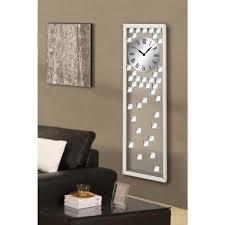 mirrored wall clock 51740