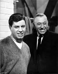 Jerry Lewis and George Raft have a bit of fun between takes of The Ladies  Man. | Jerry lewis, Classic hollywood, Movie stars