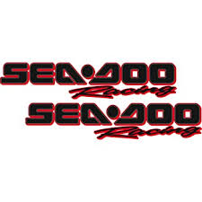 Amazon Com Sea Doo Racing Pair Black Red Outline Vinyl Vehicle Personal Watercraft Graphics Decal Stickers Automotive