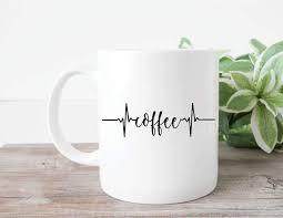 Amazon Com Coffee Heartbeat Monitor Custom Mug Decal Coffee Mug Decal Coffee Cup Decal Custom Coffee Mug Vinyl Decal Yeti Decal Doctor Nurse Gift Kitchen Dining