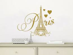 Paris Eiffel Tower Wall Decal City Theme France Vinyl Sticker For Bedroom Nv269 Ebay