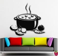 Wall Stickers Vinyl Decal Vegetable Saucepan Soup Kitchen For Lunch Ig200 For Sale Online