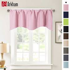Kids Room Darkening Curtain 52 X 18 Blackout Valance Curtains Solid Color Valances Of Simple And Pure Decoration Style Pale Pink Walmart Com Walmart Com