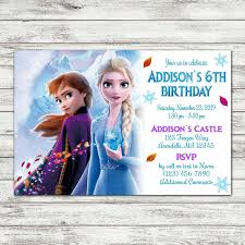 Frozen 2 Birthday Party Invite Digital File En 2020