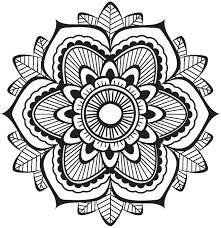 Cute Grayscale Henna Mandala Flower Icon 4 Vinyl Decal Sticker Shinobi Stickers