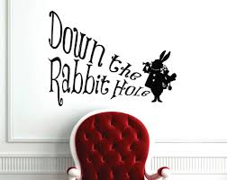 Alice In Wonderland Down The Rabbit Hole Wall Decal Lucky Girl Decals