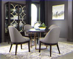benton round dining table dark brown