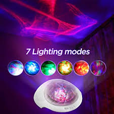 Soaiy Remote Bluetooth Aurora Nightlight Projector And Sleep Soother Sound Machine White Noise Machine Relaxing Light Show For Kids And Adults Baby Nursery Kids Bedroom Living Room Night Light Buy Products