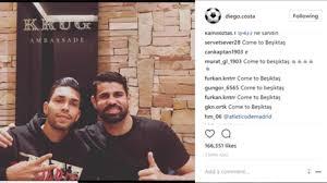 Diego Costa transfer: Chelsea striker urged to join Besiktas as 1.8m fans  flood Instagram post