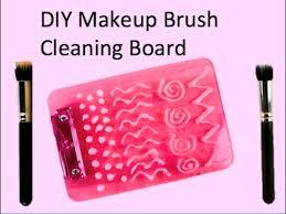 diy makeup brush cleaning board you