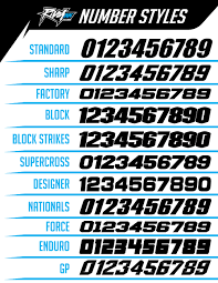 new best font for motocross numbers