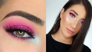 hot pink smokey eye makeup tutorial