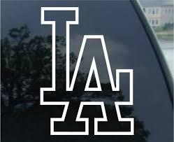Los Angeles Dodgers Vinyl Decal Car Window Mirror Bumper Etsy
