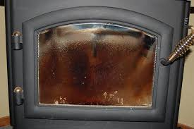 glass window of your fireplace or wood