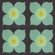 Poppy Mint Peel Stick Decorative Decals Mirth Studio