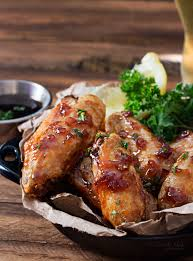 jack daniels glazed baked en wings