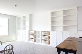 diy built ins from ikea bookcases orc
