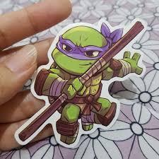 Teenage Mutant Ninja Turtle W Name Vinyl Decal Sticker Car Window Laptop Wall