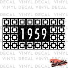 Breezeblock Custom Decal Mailbox Address Numbers Mid Century Modern Vinyl Ebay