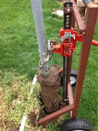 Post Puller In Action Homemade Tools Welding Projects Metal Projects