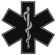 Black Star Of Life Reflective Window Decal Police Fire Ems Viny Graphics Stickers Decals Dkedecals