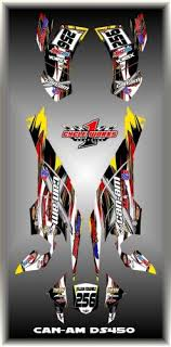 Buy Can Am Ds 450 Ds450 Semi Custom Graphics Kit Flo1 Motorcycle In Orlando Florida United States For Us 179 99