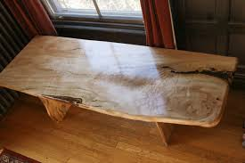 custom silver maple coffee tables by