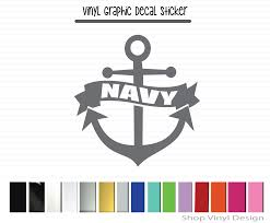 Navy Anchor Vinyl Graphic Decal Vinyl Graphic Decal By Shop Vinyl Design Shop Vinyl Design