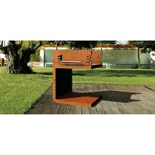c bq barbecue in corten steel
