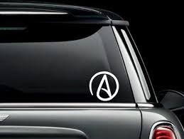 Atheist Symbol Car Truck Van Window Or Bumper Sticker Vinyl Etsy