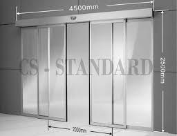 automatic sliding glass door size