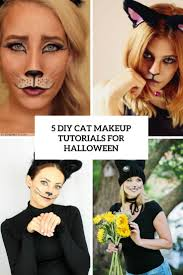 picture of 5 diy cat makeup tutorials