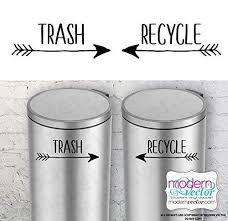 Amazon Com Boho Trash And Recycle Vinyl Wall Decal Sticker For Metal Aluminum Steel Plastic Trash Cans Indoor Use Farmhouse Style Handmade