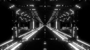 futuristic scifi tunnel corridor with